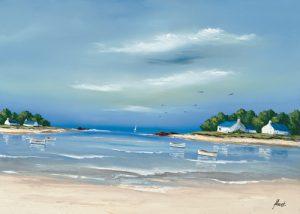 schilderij cote bretonne ii