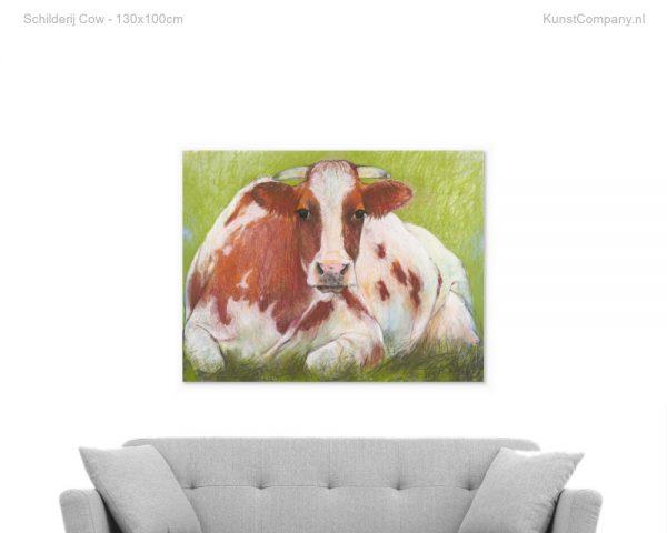 schilderij cow