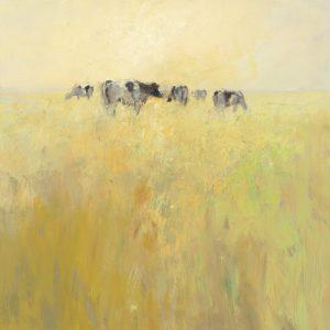 schilderij cows in spring