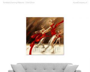 schilderij dancing ribbons