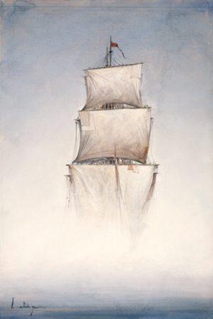 schilderij danse la brume