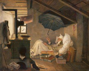 schilderij de arme dichter