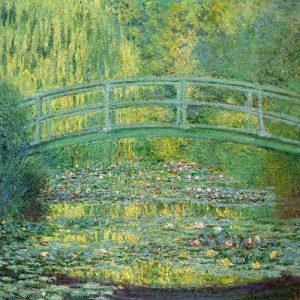 schilderij de japanse brug