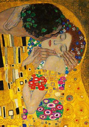 schilderij de kus detail