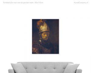 schilderij de man met de gouden helm