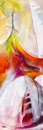 schilderij de spanning groeit