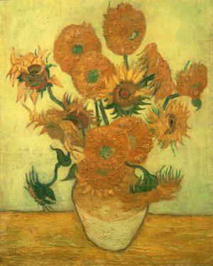 schilderij de zonnebloemen