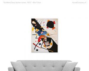 schilderij deux taches noires