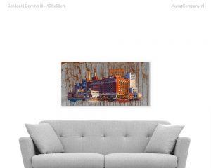 schilderij domino iii