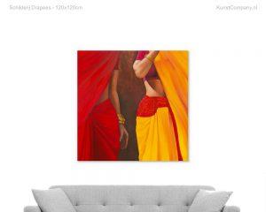 schilderij drapees
