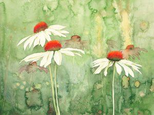 schilderij echinacea one