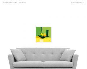 schilderij eclat vert