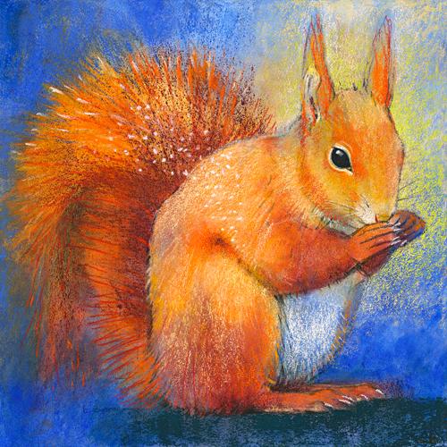 schilderij eekhoorns