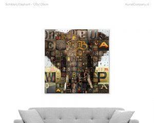 schilderij elephant