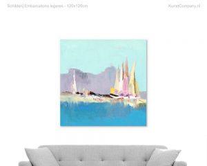 schilderij embarcations legeres