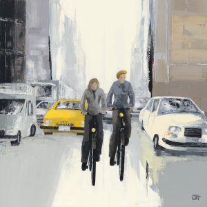 schilderij embouteillage