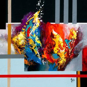 schilderij energie masculine