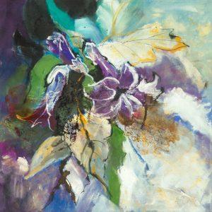 schilderij engelentrompet