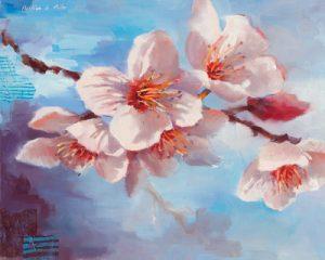 schilderij ephemere floraison ii
