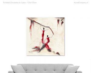 schilderij escalade du coeur