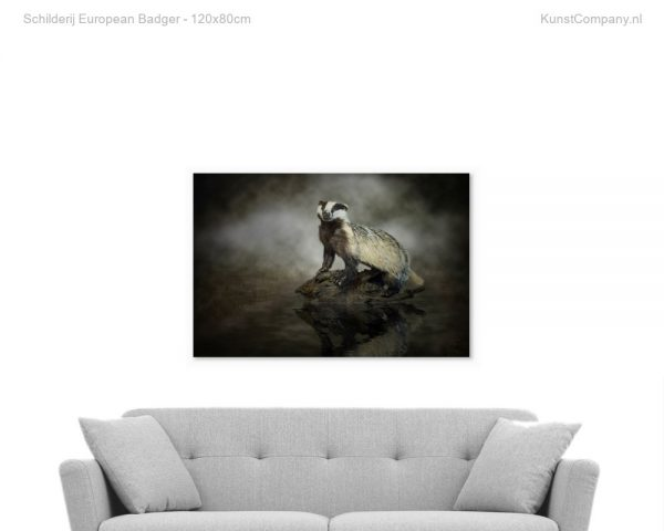 schilderij european badger