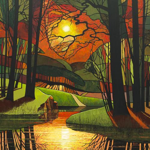 schilderij evening light
