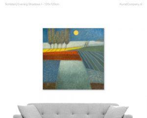 schilderij evening shadows i