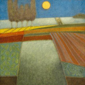 schilderij evening shadows ii