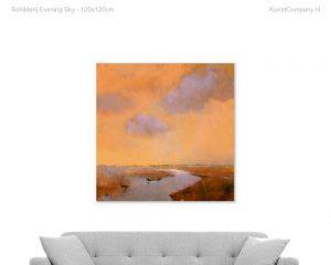 schilderij evening sky