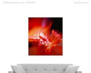 schilderij expressie in rood