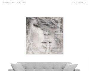 schilderij face i