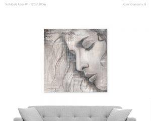 schilderij face iv