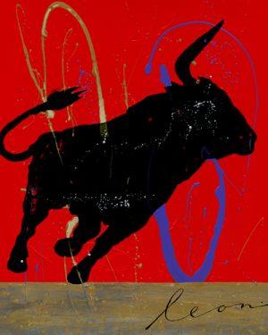 schilderij fiesta del toro