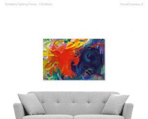 schilderij fighting forms
