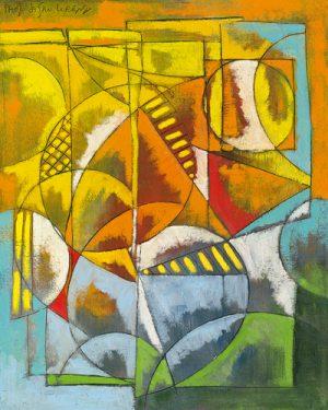 schilderij finestra sul porto ii