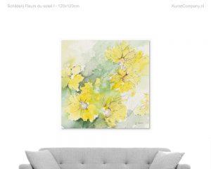 schilderij fleurs du soleil i