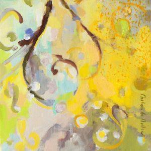 schilderij floraison jaune ii