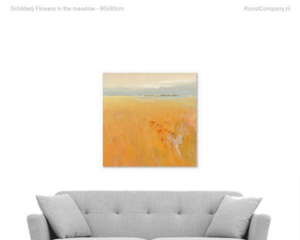 schilderij flowers in the meadow