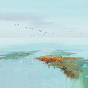 schilderij flying birds