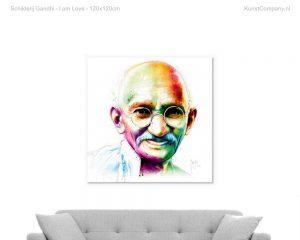 schilderij gandhi i am love