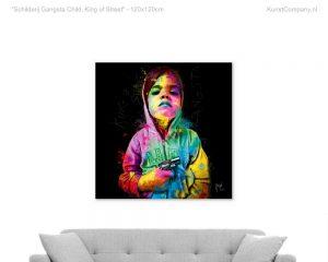 schilderij gangsta child king of street