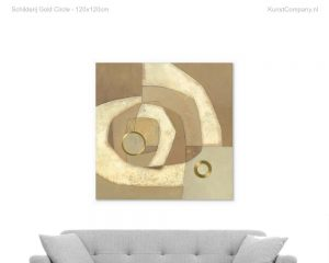 schilderij gold circle