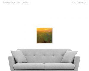 schilderij golden glow