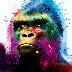 schilderij gorilla