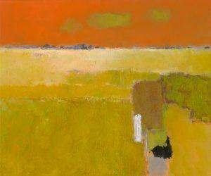 schilderij green clouds