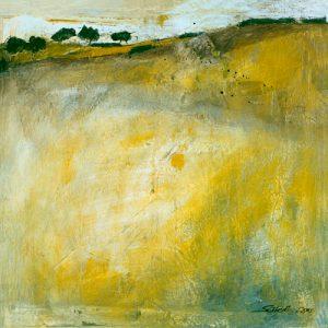 schilderij green landscape