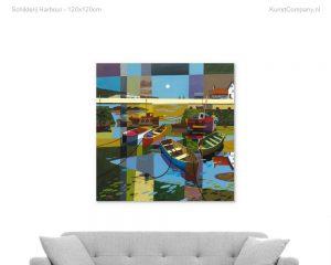 schilderij harbour