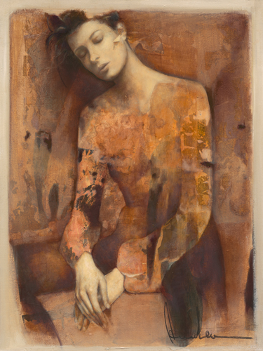 schilderij harlequin