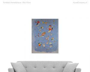 schilderij hemelsblauw