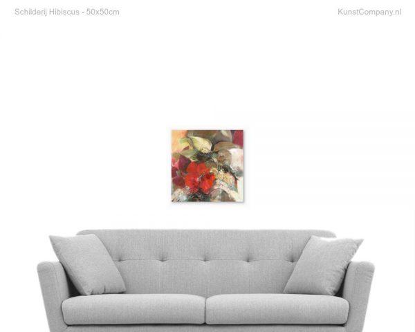 schilderij hibiscus